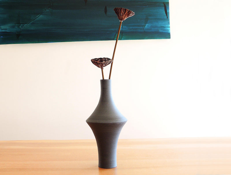 Out In Grey Vase