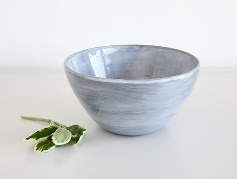 Grey Brushed Bowl by Mark Robinson