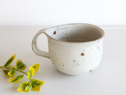 White Rustic Mug by Shinko Nakanishi