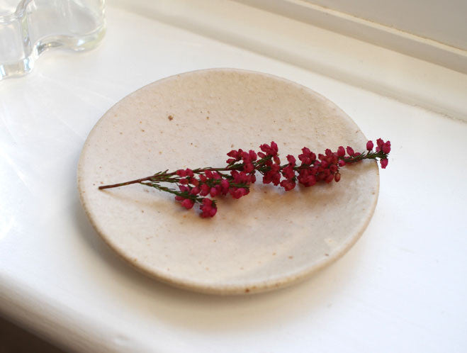 Small Beige Plate by Mushimegane Books at OEN Shop