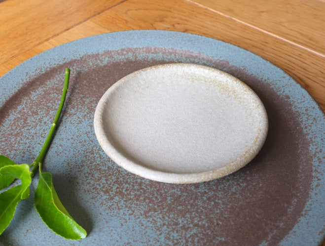 Small Grey Dish by Mushimegane Books at OEN Shop