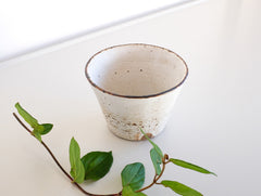 White Coated Cup by Fumihiro Toda at OEN Shop