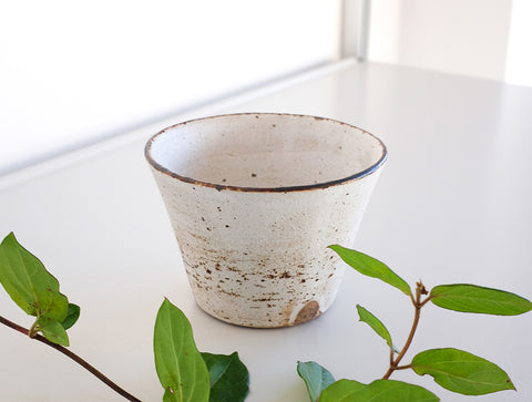 White Coated Cup by Fumihiro Toda