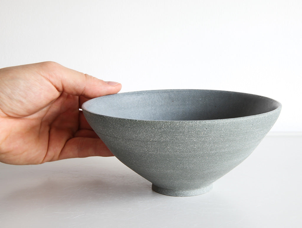 Medium Grey Stone Bowl by Mark Robinson at OEN Shop