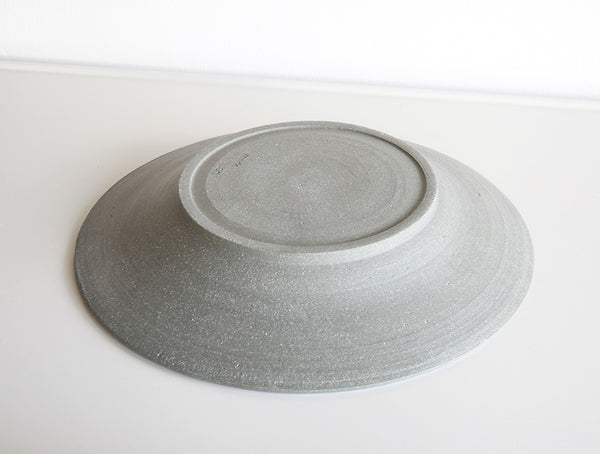 Grey Stone Large Rimmed Plate