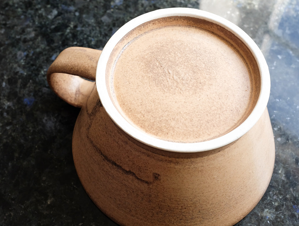 Cocoa Wide Mug by Inima Pottery at OEN Shop