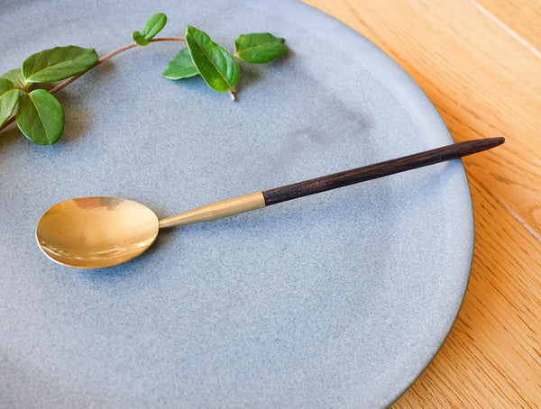 Brass Wooden Handle Spoon