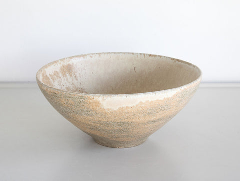 Rustic Yellow Stone Bowl by Mark Robinson