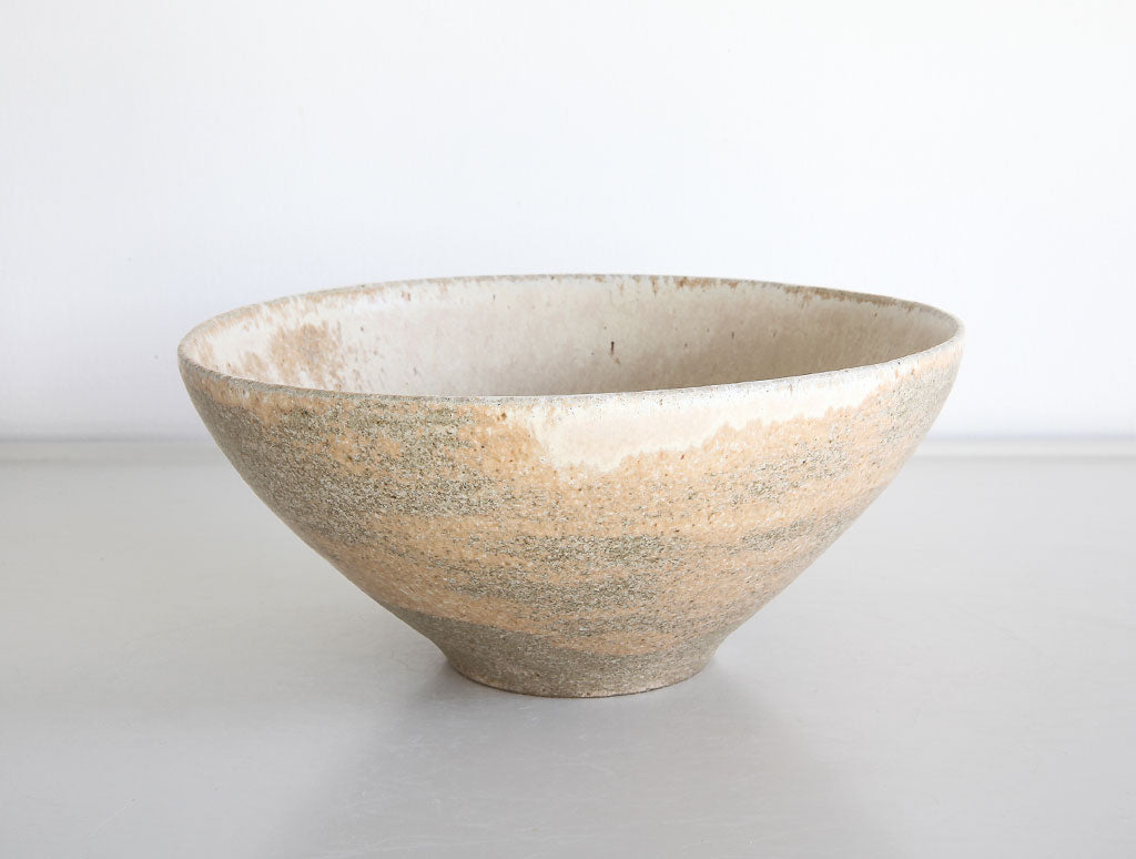 Rustic Yellow Stone Bowl by Mark Robinson at OEN Shop