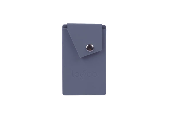 Lassoo Card Holder. Metal button closure ensures your credit cards and cash will never fall out. 3M adhesive for strong hold.