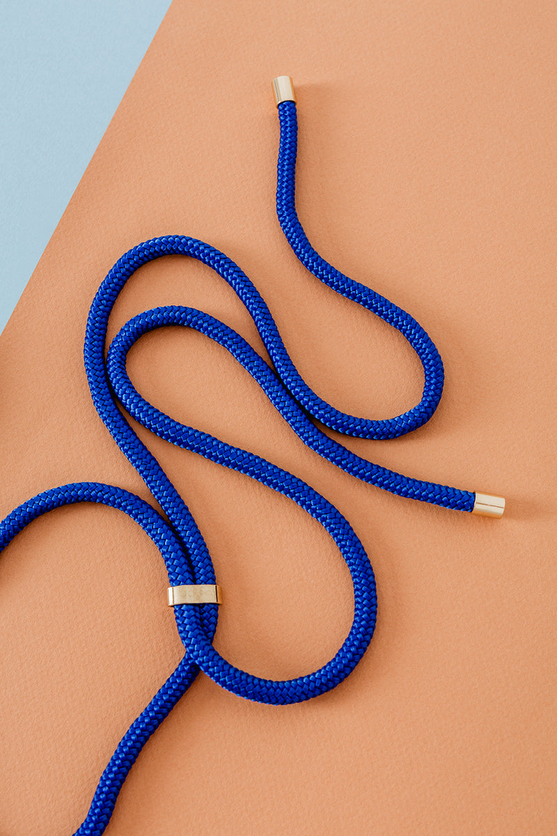 Lassoo Electric Blue Cord accessory. Exchange the Cord on your smartphone necklace to match any fashion outfit.