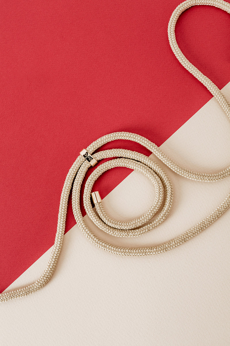 Lassoo Gold Classic Cord accessory. Exchange the Cord on your smartphone necklace to match any fashion outfit.