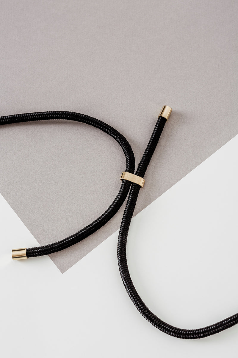 Lassoo Jet Black Cord accessory. Exchange the Cord on your smartphone necklace to match any fashion outfit.
