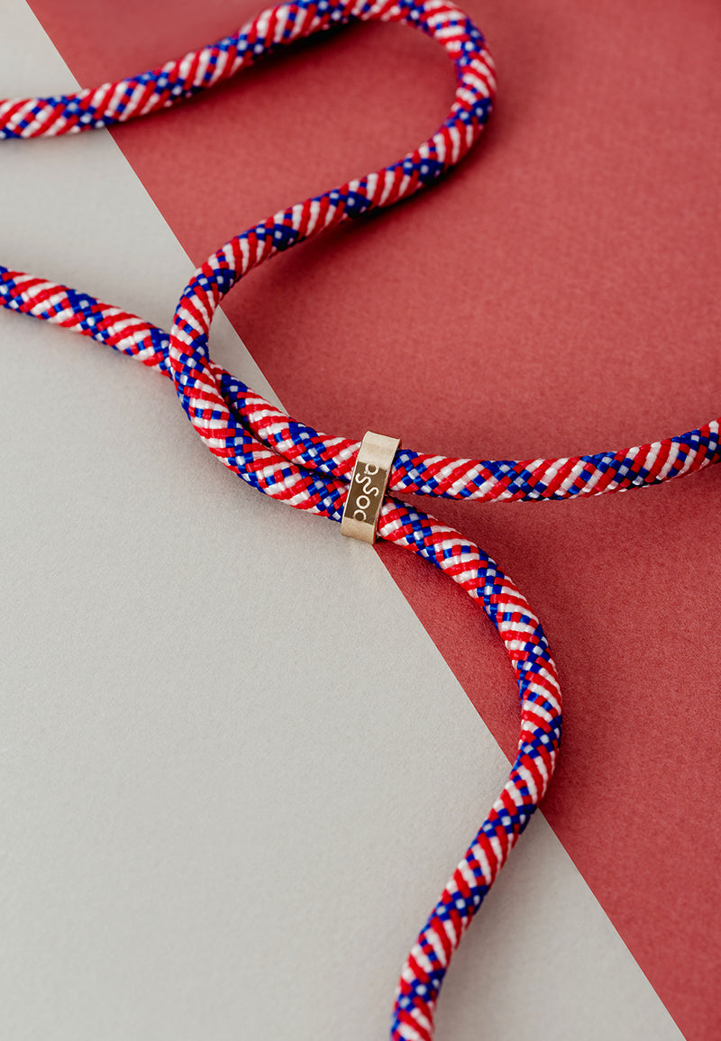 Lassoo Stars N' Stripes Cord accessory. Exchange the Cord on your smartphone necklace to match any fashion outfit.