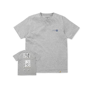 Isle Skateboards x Carharrt Krystall - Dimensions Tee Grey Heather