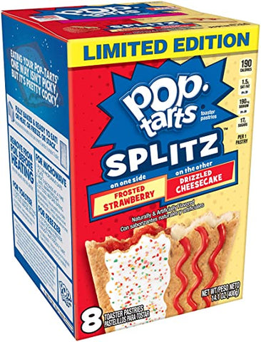 Pop-Tarts Splitz Frosted Strawberry and Drizzled Cheesecake