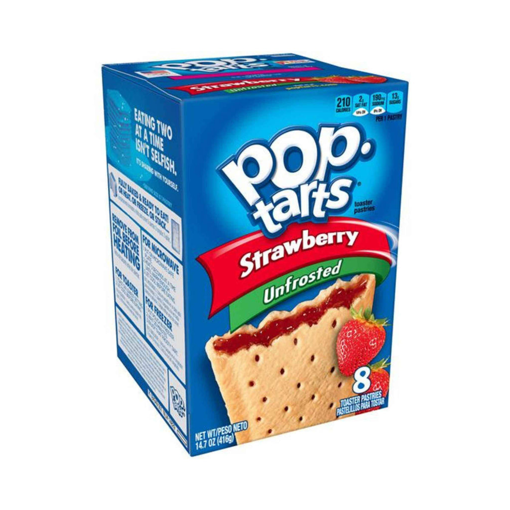 Pop tarts Strawberry Unfrosted, biscotti alla fragola da 416g (2146451193953)