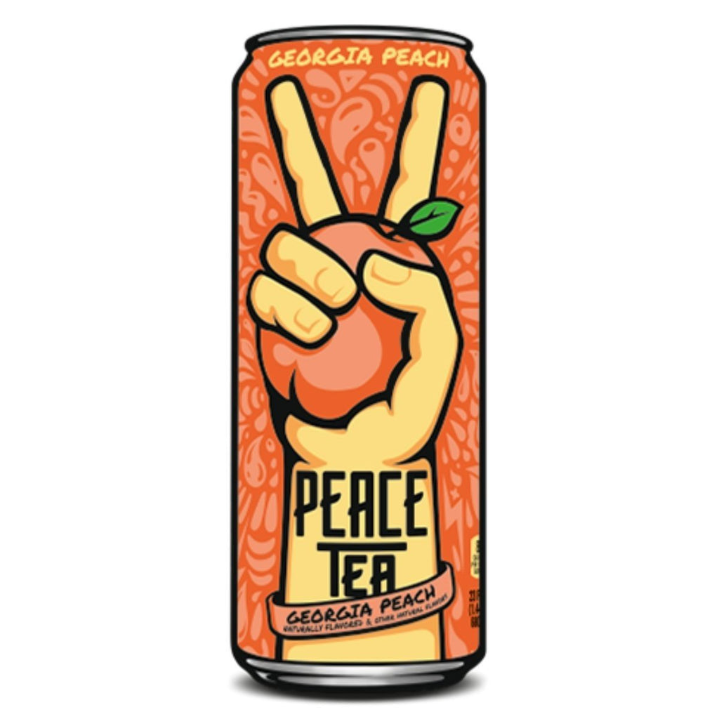 Peace Tea Georgia Peach, tè freddo alla pesca da 695 ml (2083122348129)
