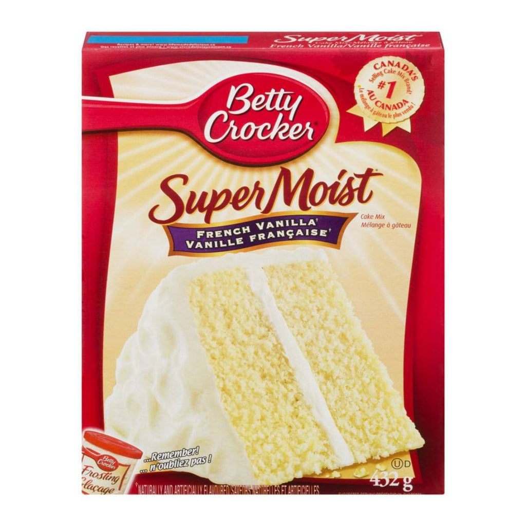 Betty Crocker Super Moist French Vanilla Cake mix, preparato per torta umida alla vaniglia da 432g (3827252920417)
