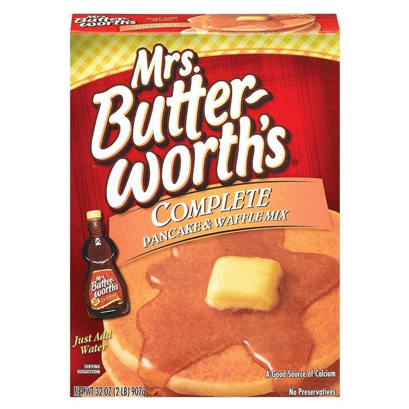 Mrs. Butterworth's Complete Pancake and Waffle Mix, preparato per pancakes americani da 907g (1954214608993)