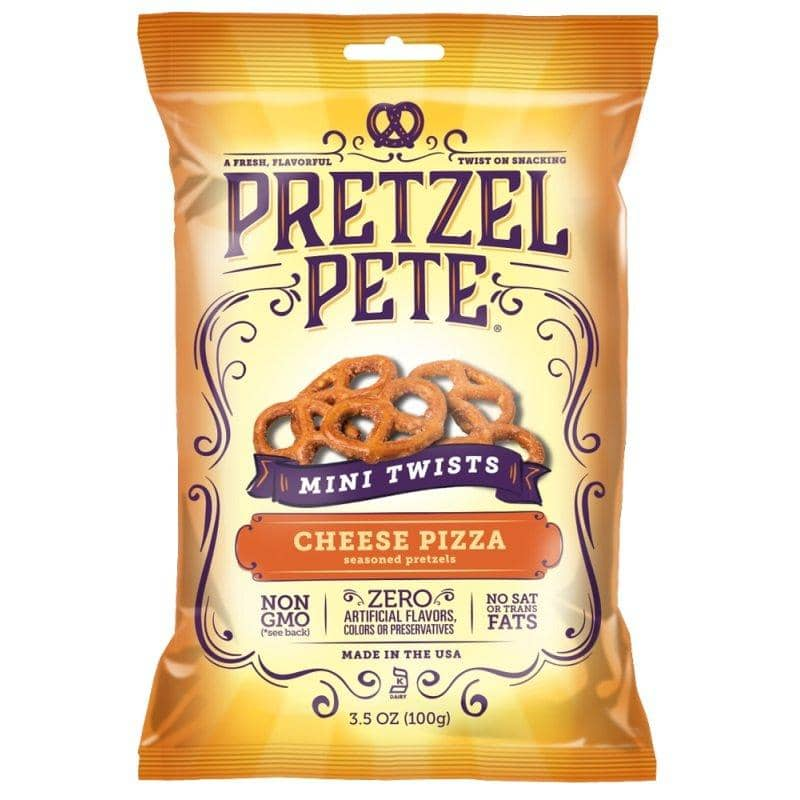 Pretzel Pete Mini Twists Cheese Pizza, pretzel al gusto formaggio e pizza da 100g