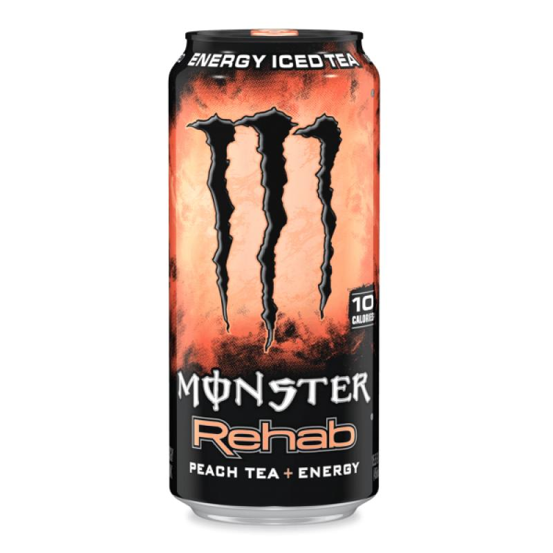 Monster Rehab Peach Tea, energy drink alla pesca da 458 ml