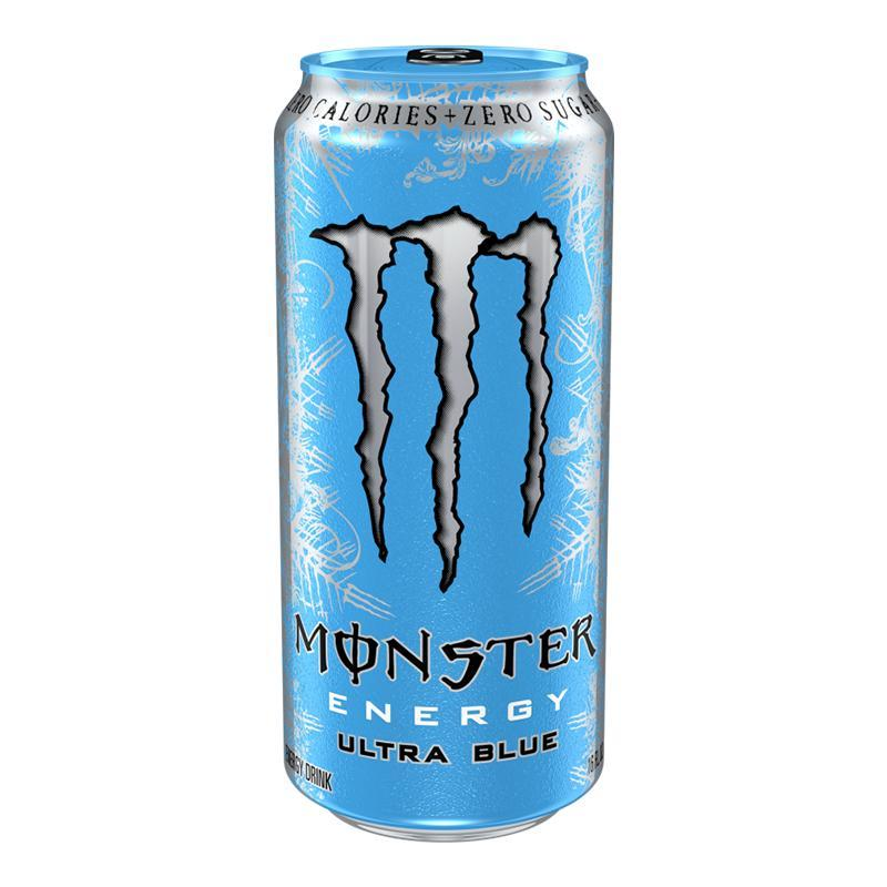 Monster Energy Ultra Blue, energy drink alla frutta da 458 ml (1954236072033)