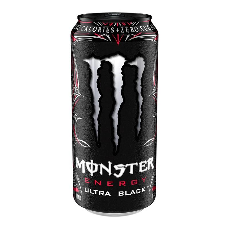 Monster Energy Ultra Black, energy drink alla frutta da 473 ml (1954236563553)
