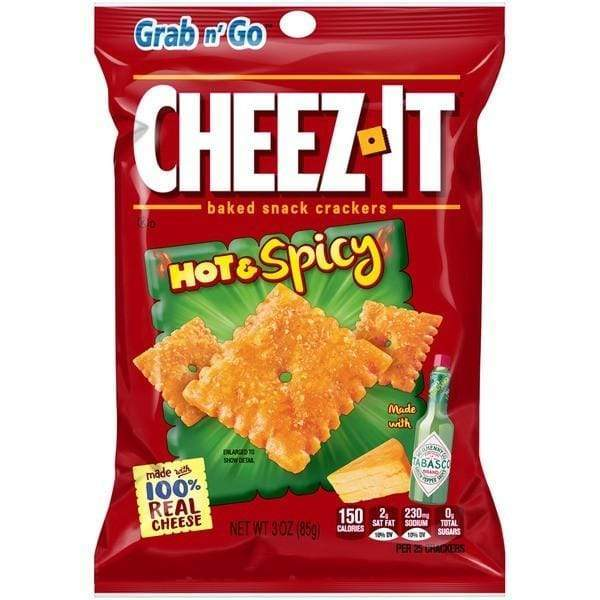 Cheez-It Hot and Spicy, cracker piccanti al formaggio da 85g