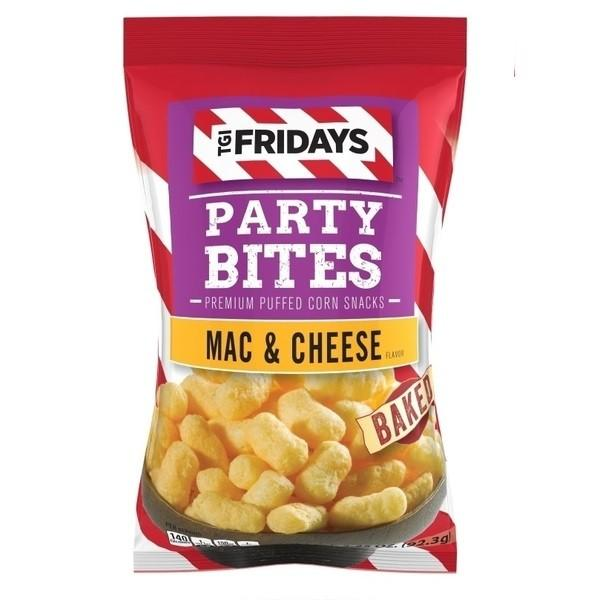 TGI Fridays Party Bites Mac and Cheese Baked, patatine al formaggio da 92.3g (1954209267809)