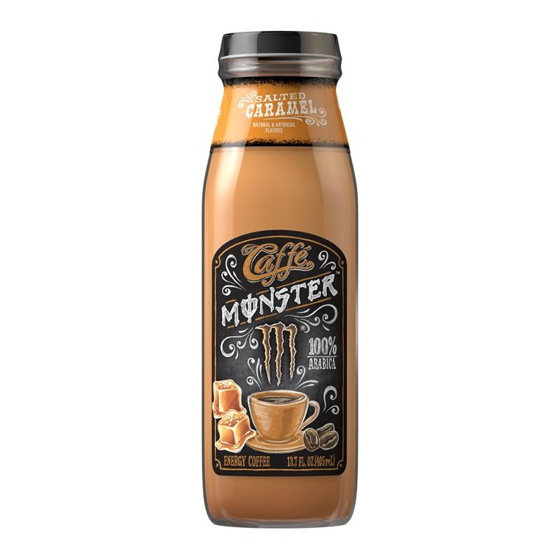 Monster Caffé Salted Caramel, energy drink a caffé caramello da 405 ml