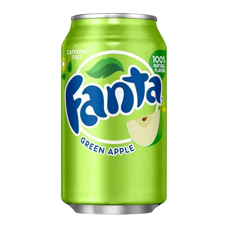 Fanta Green Apple, soda alla mela verde da 355 ml