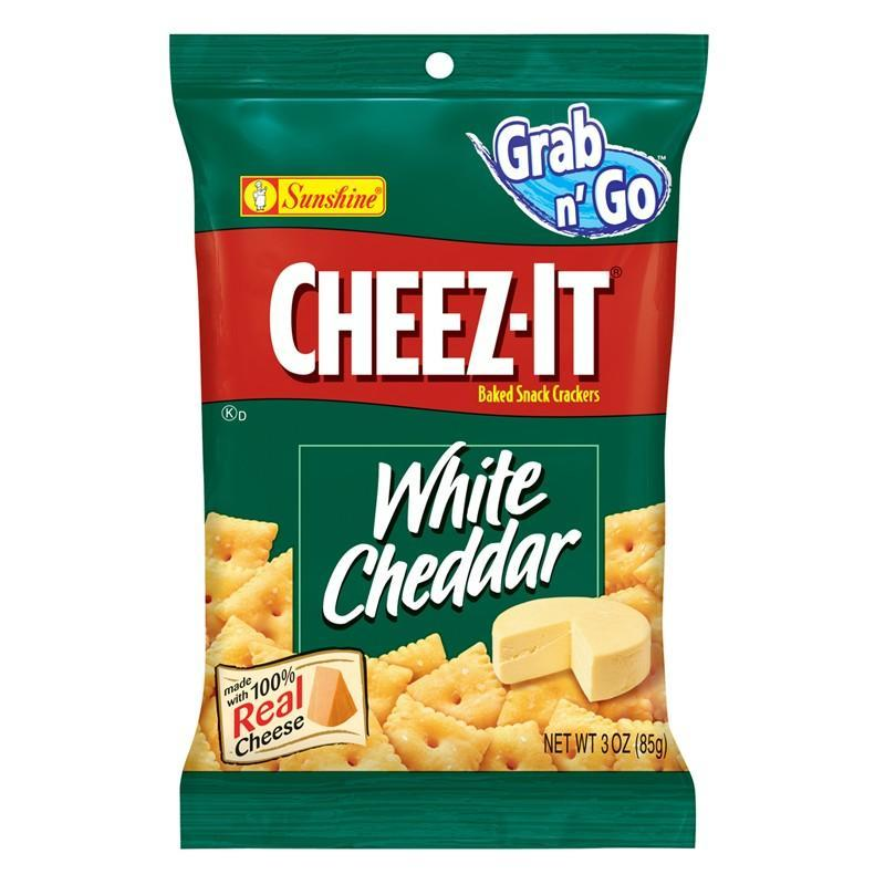 Cheez-It White Cheddar Big Pack, cracker al formaggio cheddar nel formato da 85g