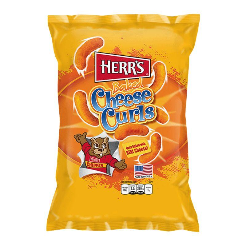 Herr's Baked Cheese Curls Big Pack, patatine al formaggio nel formato maxi (1954209988705)