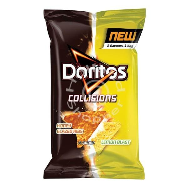 Doritos Collisions Honey Glazed Ribs and Lemon Blast, patatine al limone e miele da 162g (1954243149921)