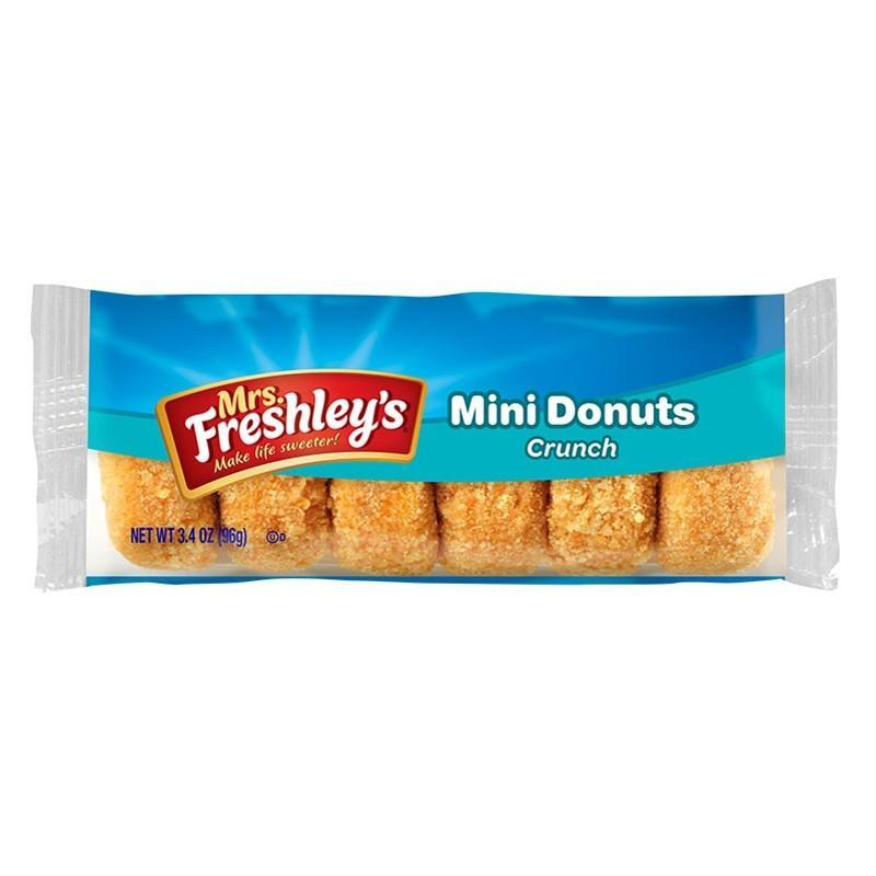 Mrs. Freshley's Mini Donuts Crunch, ciambelle rivestite di zucchero da 96g (1977191465057)