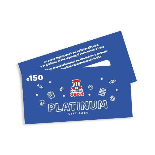 AU Platinum Ticket, Buono da €150 da spendere su AmericanUncle.it (4381711958113)