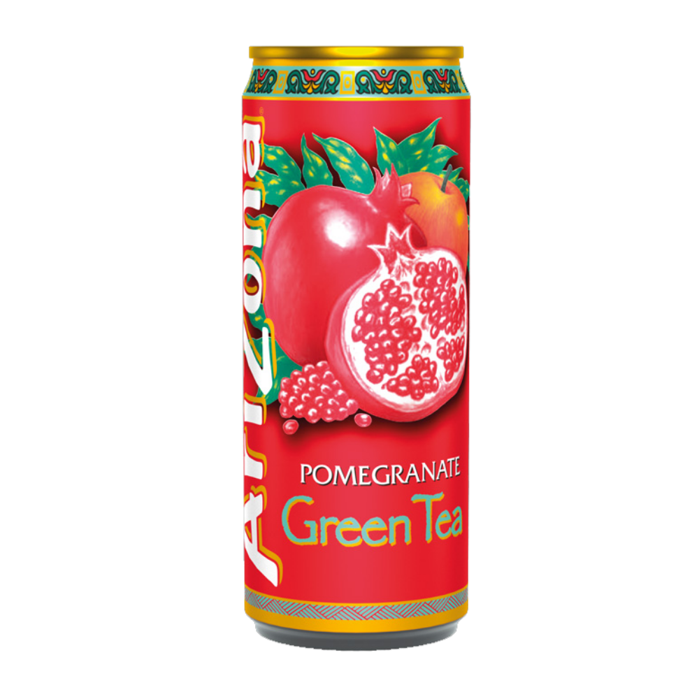 Arizona Green Tea Pomegranate, te' verde al melograno da 330ml (4516981276769)