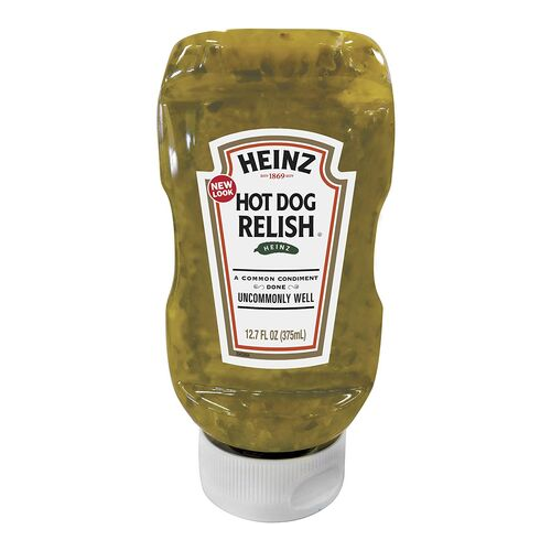 Heinz Hot Dog Relish Squeeze, confezione di condimento al cetriolo per hot dog da 296 ml (4113321656417)