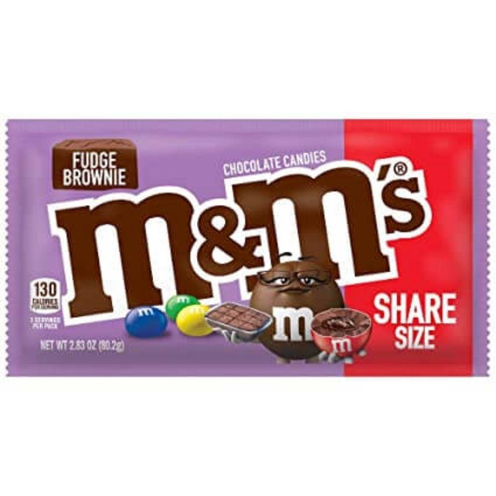 M&M's Fudge Brownie, confetti al cioccolato ripieni di brownies da 80.2g