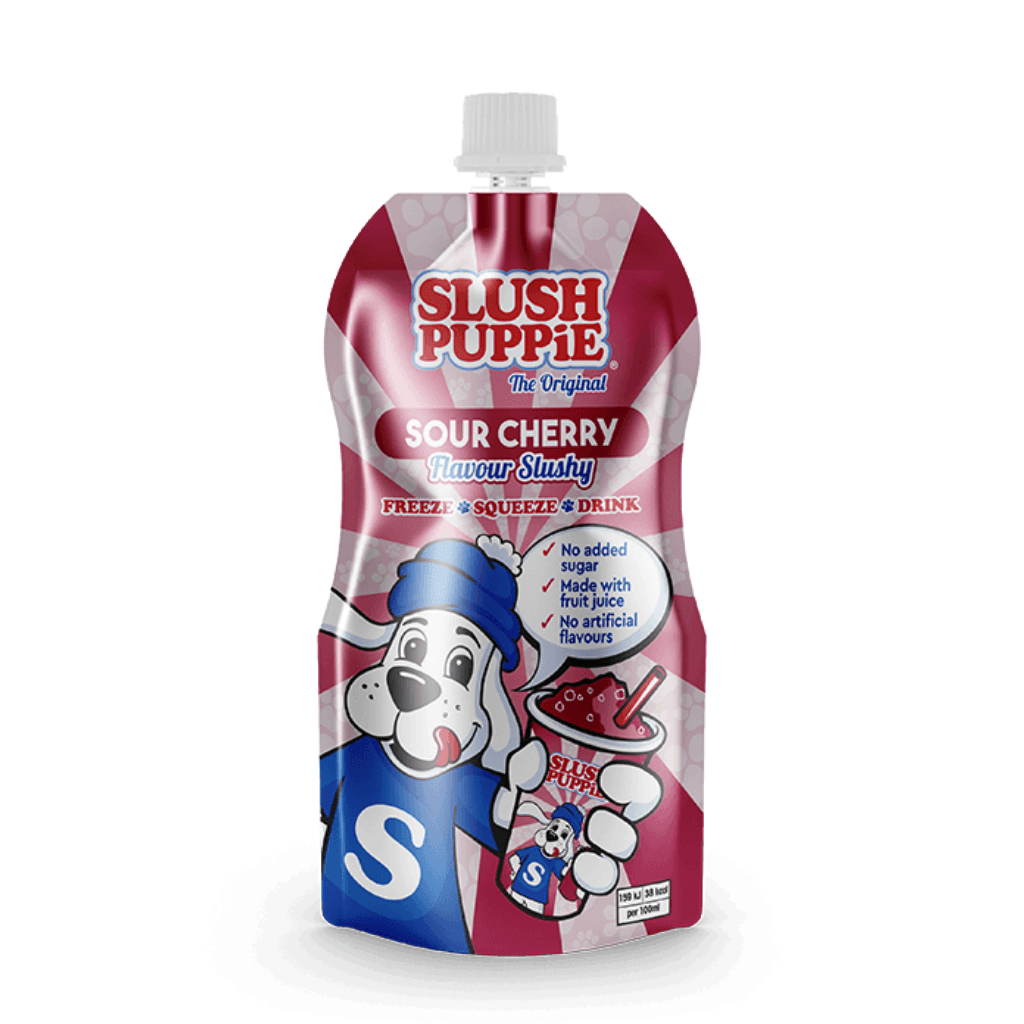 Slush Puppie Sour Cherry Flavour Slushy, granita alla ciliegia da 250ml (4659113361505)