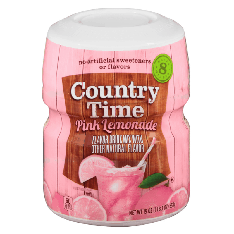 Country Time Pink Lemonade, preparato in polvere per bevande alla limonata rosa da 538g (2036368080993)