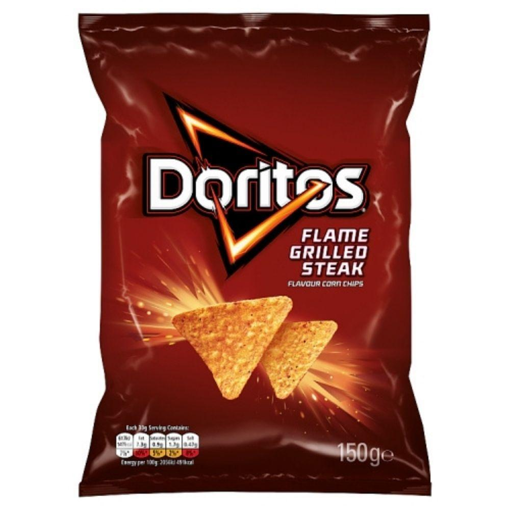 Doritos Flame Grilled Steak, patatine al sapore di bistecca arrostita da 150g (4699597635681)