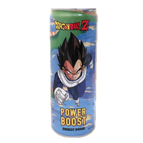 Dragonball Z Vegeta Power Boost Energy Drink, energy drink alla frutta da 355ml (4574733336673)