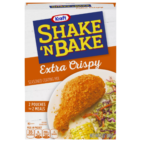 Shake'n Bake Extra Crispy Chicken Coating, pangrattato per panature da 141g (4574732353633)