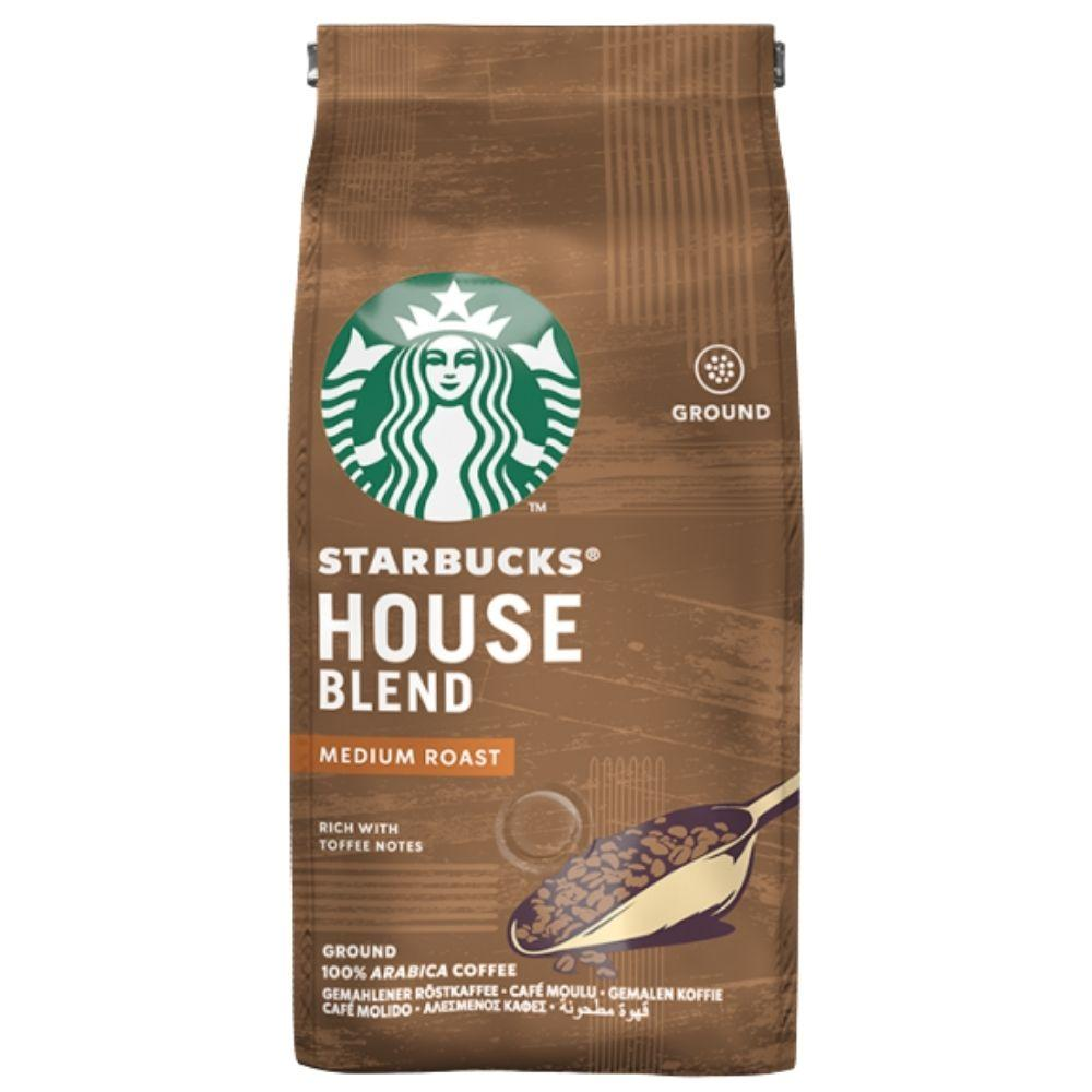 Starbucks Roast & Ground Medium House Blend, preparato in polvere per caffè al cacao e alle noci da 200g (1954243182689)