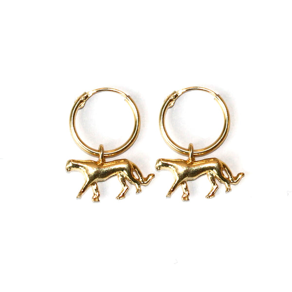 Leopard classic pair of earrings