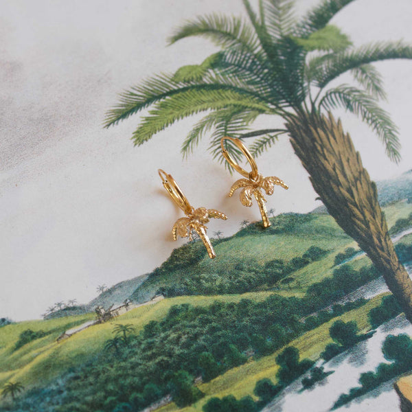 Palmtree 3D pair of earrings