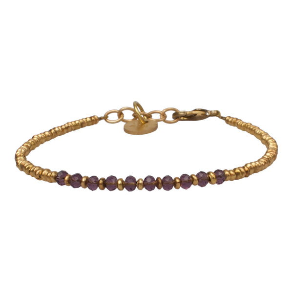 Stone bracelet transparent purple