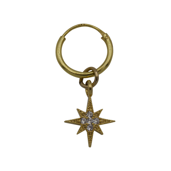 Twinkle diamond star one earring